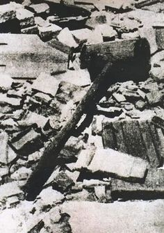 Wooden club used to crush the skulls of prisoners at Jasenovac.