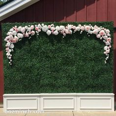 Paper flower backdrop by Girl Friday in Minneapolis Wedding Colors, Wedding Flowers, Bouquet Wedding, Faux Grass, Tropical Bridal Showers, Paper Flower Backdrop, Photo Booth Backdrop, Wedding Background, Faux Plants