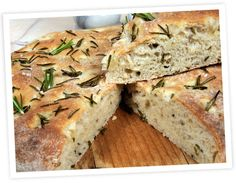 A Warm and delicious recipe for Italian rosemary focaccia bread. Italian Rosemary Focaccia Bread Recipe from Grandmothers Kitchen. Wheat Free Recipes, Gluten Free Recipes, Italian Bread Recipes, Rosemary Focaccia, Bread Baking, Bread Food, Cooking Recipes, Cooking Ideas, Yummy Food