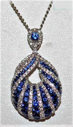 0ad9ef458 ->I adore this #diamondpendantnecklaces Sapphire Pendant, Sapphire  Necklace, Fantasy Jewelry