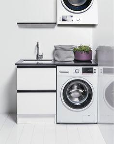 600 Laundry Cabinet with 600 Shelf Laundry Cabinets, Bathroom Furniture, Bathroom Inspiration, Tub, Vanity, Home Appliances, Shelves, Design, Laundry Room