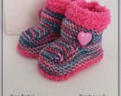 Baby Booties - Knitted Baby Boys Booties - Handmade Snug Bootees - 0-3 Months, 3-6 Months, 6-9 Months, Sky Blue - Baby Gift