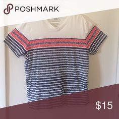 ✨✨✨MEN'S SHIRT✨✨✨ New; never worn; 60% cotton/40% polyester; red/white/blue American Rag Shirts Tees - Short Sleeve