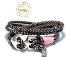Tolles Anker Armband von LeChatVIVI BERLIN® #ankerarmband #anker #rosa #schwarzweiss