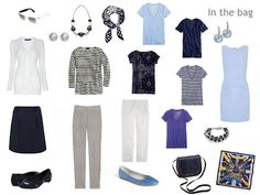 A Femme d'Un Certain Age: Packing for Paris: in shades of blue