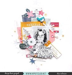 Focusing On Fussy-Cutting with Elsie Robinson Education Journals, Art Education, Scrapbooking Layouts, Scrapbook Paper, Smash Book Pages, Paper Bag Album, Hip Kit Club, Middle School Art, High School