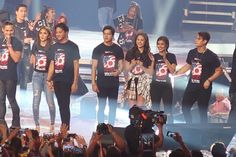 This is Piolo Pascual, #KathNiel (Kathryn Bernardo and Daniel Padilla), #ElNella (Elmo Magalona and Janella Salvador), and #LizQuen (Liza Soberano and Enrique Gil) having fun together once again during the closing production number of ASAP Live in New York at the Barclays Center last September 4, 2016. They are really having a good time! :-) #ASAPLiveinNewYork
