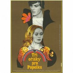 A beautiful vintage poster for a family classic Christmas film Three wishes for Cinderella (Tri orisky pro Popelku) by Vaclav Vorlicek. Polish Posters, Film Posters, Cinderella Original, Graphic Prints, Graphic Art, German Fairy Tales, Film Movie, Movies, Tfios