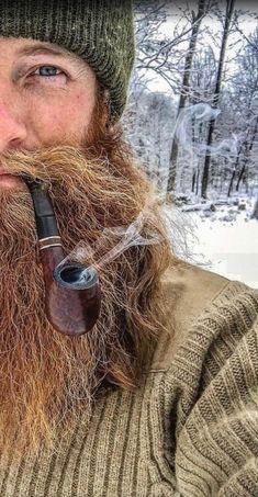 Beard beard n moustache styles Man Smoking, Pipe Smoking, Hair And Beard Styles, Long Hair Styles, Lumberjack Style, Beard Rules, Epic Beard, Long Beards, Awesome Beards