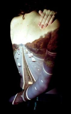 Road on a human body, but seems difficult to distinguish it with road image photos :) Photography Projects, Creative Photography, Portrait Photography, Body Art Photography, Photography Themes, Popular Photography, Contemporary Photography, Street Photography, Landscape Photography