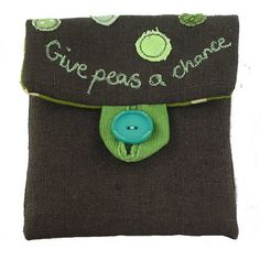 Wallet - Give Peas A Chance  by Poppy Treffry