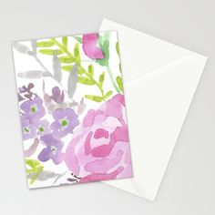 Sweet Thought Stationery Cards by Edith Jackson-Designs | Society6