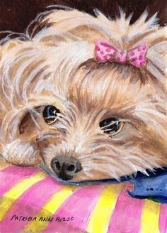 """Daily Paintworks - """"My Kind of Dog"""" - Original Fine Art for Sale - © Patricia Ann Rizzo"""