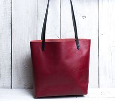 Leather tote bag burgundy red color. Monogram tote. Large leather tote bag. Leather bag with monogram personalization by viveo on Etsy https://www.etsy.com/listing/213551021/leather-tote-bag-burgundy-red-color