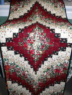 Bargello Christmas table runner or wall hanging OOAK by joneyn, $75.00