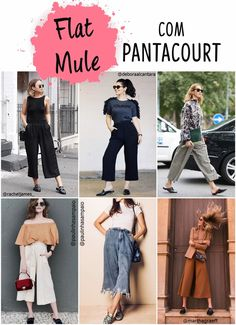 Flat mule com pantacourt -