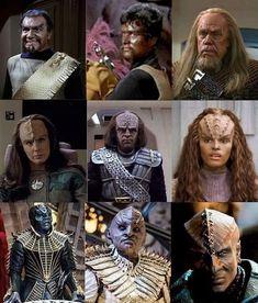 The many faces of Klingon Klingon Empire, Star Trek Klingon, Star Trek Starships, Star Trek Enterprise, Star Trek Voyager, Vulcan Star Trek, Star Wars, Star Trek Borg, Star Trek Show