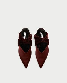50 Fall Flats Under $50 - WearBlackDrinkChampagne.com   #flats #shoes #fashion #bow #Zara #velvet