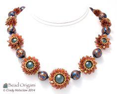 New Pattern: Double Pinwheel Beaded Beads