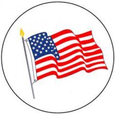 American Flag Hard Hat Sticker