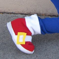 SHOE COVERS ONLY- Sonic The Hedgehog inspired boys costume on Etsy, $55.00