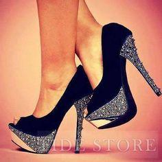 US$68.99 Sexy Black Suede Peep Toe Platform High Heel Shoes. #Pumps #Shoes #Black #Toe