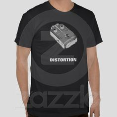 Guitar Distortion Pedal Black & White from Zazzle.com