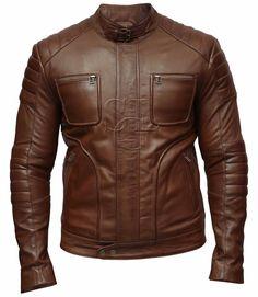 Homme Motard Moto Vintage MARRON CAFE RACER Doux Cuir Véritable Veste    Clothes, Shoes   b7ed5f5dd5b