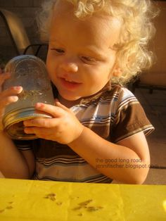 Sensory Play & Experiential Art From Nature AKA Lavender is for Boys Too - #mindjars #Lavendarplay #sensoryplay