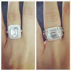 Don't you just love an emerald cut diamond?  Which design do you love more from Tacori?
