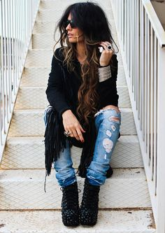 Distressed denim + c