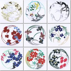 Japanese Design Patterns   ... -Creations Machine Embroidery Japanese Quilt Circles and Free Design