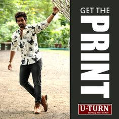 Step out in style in a printed shirt combined with brown shoes and look as smashing as ever.  Get the style at U TURN.