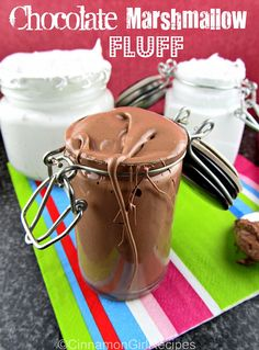Make your own Marshmallow Fluff. In Chocolate, too. Theres a lot of stuff on here too. Recipes With Marshmallows, Homemade Marshmallows, Chocolate Marshmallows, Yummy Treats, Sweet Treats, Homemade Marshmallow Fluff, Peanut Butter Sandwich, Dessert Dips, Diy Food
