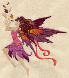 Autumn Fairy | Urban Threads: Unique and Awesome Embroidery Designs