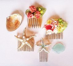 Summer Collection-Vintage Flower Hair Combs-Floral Hair Accessories