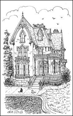"iColor ""Architecture"" ~ VICTORIAN LOOSE LINE (1177x1895)"
