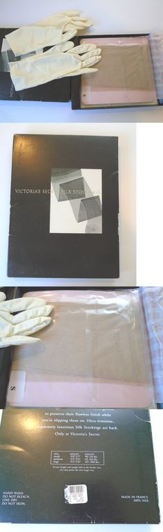 Pantyhose and Tights 11525: Vtg Victoria S Secret Silk Stockings W Gloves New Small Champagne Made In France -> BUY IT NOW ONLY: $39.99 on eBay!