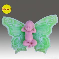 """""""3D Butterfly Baby Fairy"""" scented soap"""