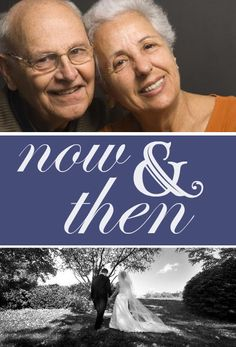 This would require photo shoot right away!  Now And Then Photo  50th Anniversary Party Invitation