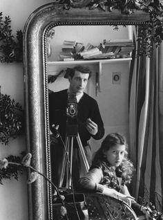Edouard Boubat --Self-portrait in Mirror, Paris, c1951
