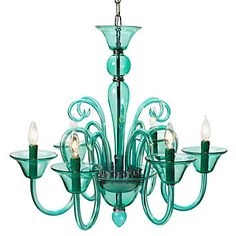 We sense that Aquamarine is a theme among pinners? Calais Chandelier in Aquamarine, $399.00