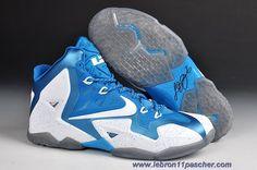 separation shoes e021c 847e3 Nike LeBron 11 Blanc Bleu Sortie Adidas Originals, Kobe 8 Shoes, New  Jordans Shoes