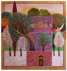 Nabil Anani (b.1943, Latroun, Palestine). Olive and Thyme