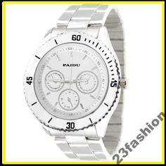 Srebrny Zegarek PAIDU Monaco Meski Damski Metalowy