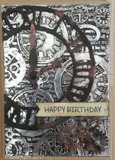 Birthday card vintage tim holtz New Ideas Metal Tape Art, Make Birthday Invitations, Steampunk Cards, Card Tags, Men's Cards, Easel Cards, Greeting Cards, May Birthday, Embossing Techniques