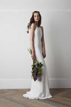 Charlie Brear wedding dress: http://www.stylemepretty.com/2014/10/23/14-halter-dresses-that-will-make-you-swoon/