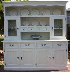 Beautiful Buffet/hutch/dresser/sideboard restored in French Provincial style