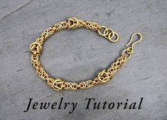 Large Knot Byzantine Bracelet Jewelry Tutorial