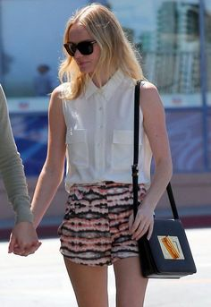 Kate Bosworth's Equipment blouse is such a wardrobe staple. Click to shop!